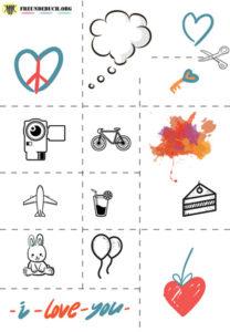 Freundebuch Vorlage Icons