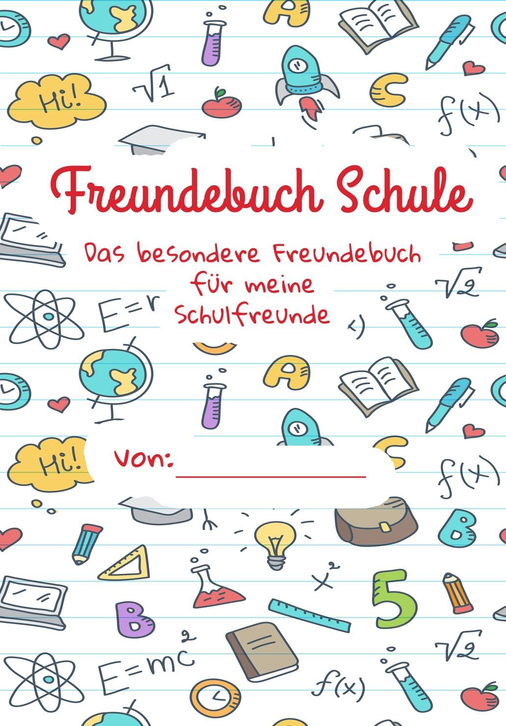 Freundebuch Schule Für Mädchen Und Jungen Zum Selbst Gestalten