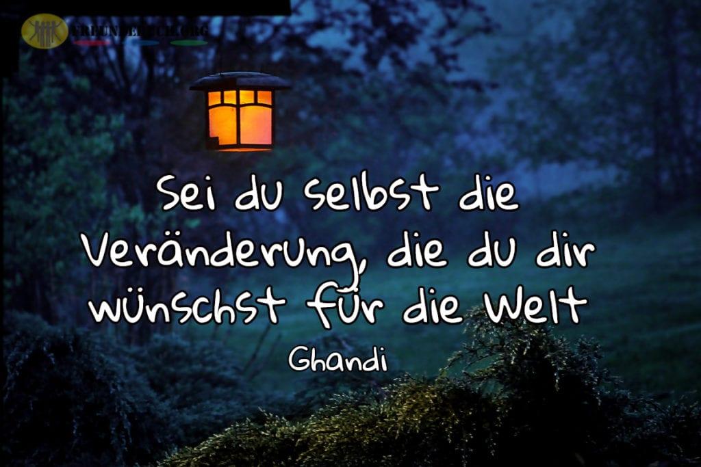 Freundebuch Spruch von Ghandi